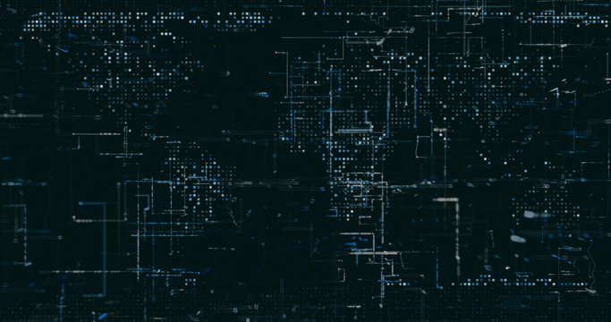 Abstract digital network data background, 3D rendering