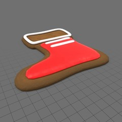 Gingerbread stocking cookie
