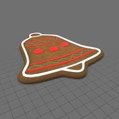 Gingerbread bell cookie