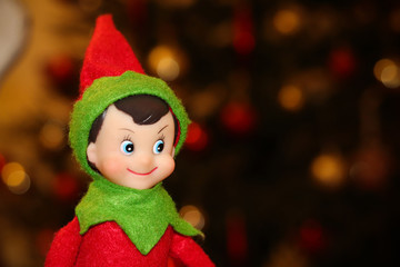 Christmas elf on a shelf
