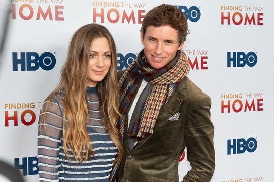 Hannah Bagshawe, Eddie Redmayne at arrivals for FINDING THE WAY HOME Premiere