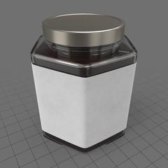 Hexagonal jam jar