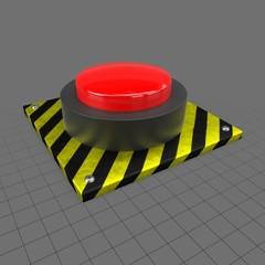 Round push button