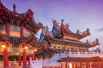 Thean Hou Temple at sunset in Kuala Lumpur, Malaysia
