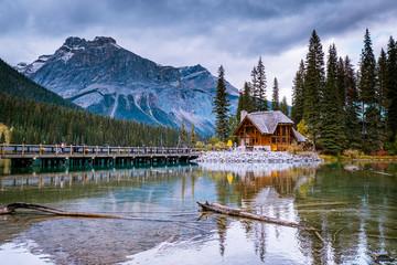 Emerald lake Yoho national park Canada British Colombia