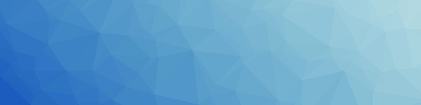 Classic Blue Abstract trianglify Generative Art background illustration