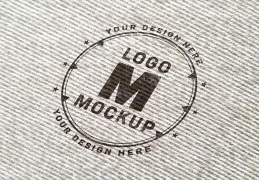 Logo Mockup on Wool Fabric Texture