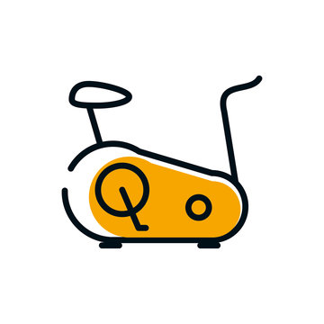 Isolated spinning bike icon vector design