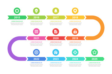 Timeline and infographic concept design, modern, with icons. Easy to customize template. EPS 10.
