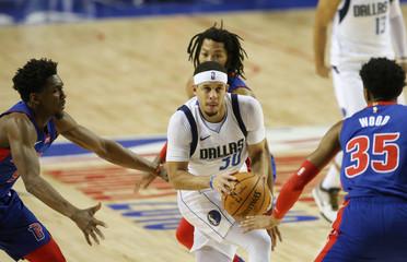 NBA Global Games - Dallas Mavericks v Detroit Pistons