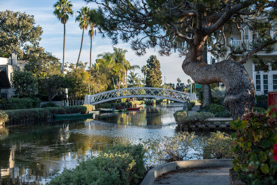 Venice Beach Canals in Los Angeles, California