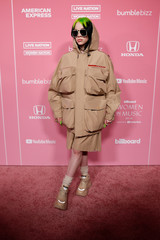 "American singer-songwriter Billie Eilish arrives on the red carpet for ""Billboard Women in Music"" event in Los Angeles"
