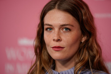 """Maggie Rogers arrives on the red carpet for the """"Billboard Women in Music"""" event in Los Angeles,"""