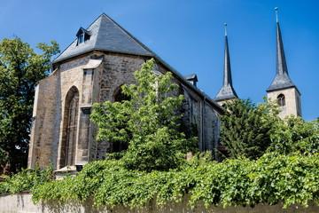 naumburg, deutschland - moritzkirche mit zwillingstürme