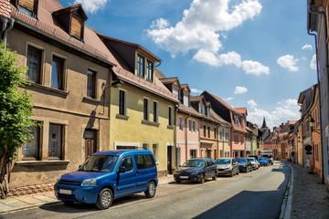 naumburg, deutschland - pittoreske altstadtgasse mit alten häusern
