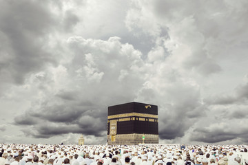 Fototapete - Mecca with dynamic clouds background