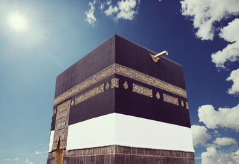 Wall Mural - Kaaba with sky and sun