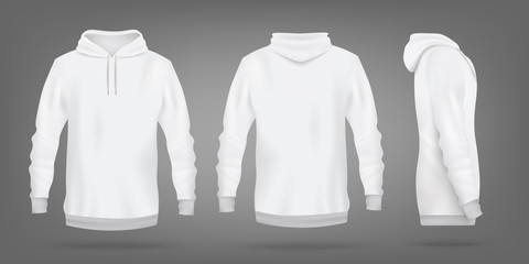 Sweatshirt blank template design realistic vector illustration isolated.