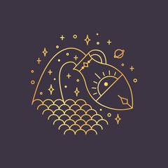 Aquarius zodiac sign, horoscope symbol