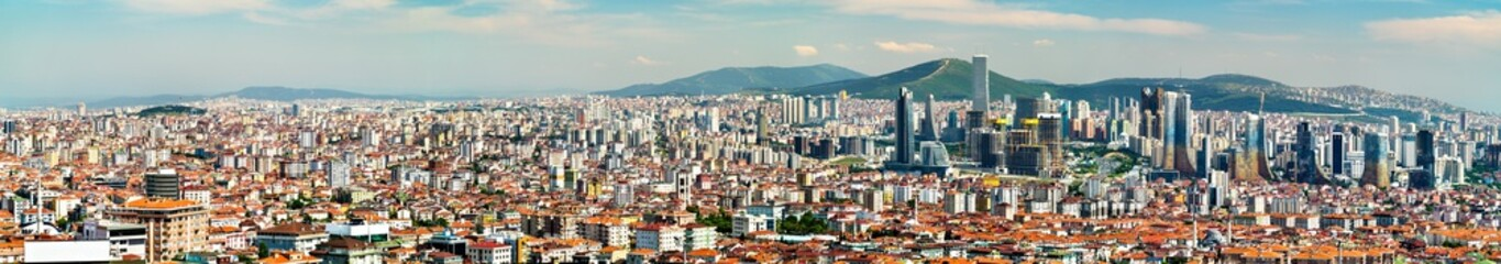 Foto op Canvas Panorama of the Asian side of Istanbul in Turkey