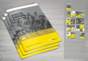 Yellow and Gray Business Brochure Layout