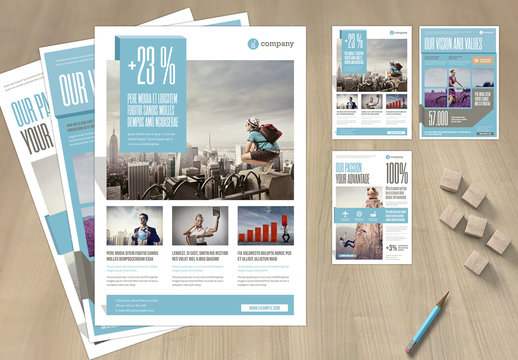 White and Pale Blue Flyer Layout