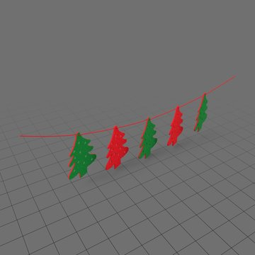 String of Christmas trees