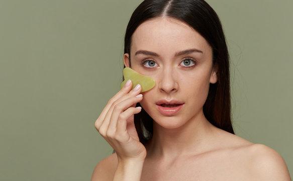 refreshing facial treatment Gua Sha