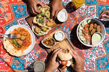 Vegan food picnic