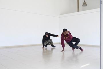 Breakdancers choreography.