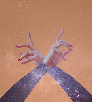 Hands made of Stardust