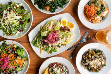 Vegetarian Salads and Grain Bowls