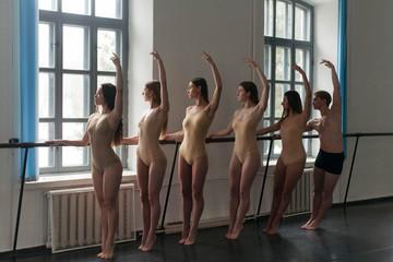 choreographers posing symmetrically
