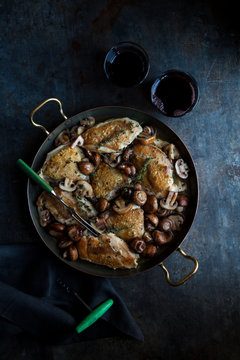 Oven baked winter chicken casserole