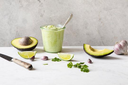 Creamy avocado cilantro salad dressing
