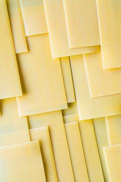 Close up of lasagna sheets