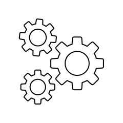 Obraz opcje ikona koło zębate - fototapety do salonu