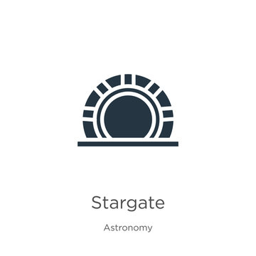 Stargate icon vector. Trendy flat stargate icon from astronomy collection isolated on white background. Vector illustration can be used for web and mobile graphic design, logo, eps10