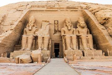 The Great Temple at the Ramses II Temples at Abu Simbel