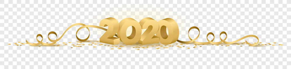 2020 happy new year vector symbol transparent background isolated Fototapete