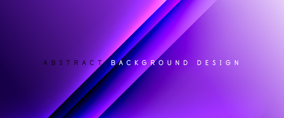 Fototapeten Violett Trendy simple fluid color gradient abstract background with dynamic straight shadow line effect. Vector Illustration For Wallpaper, Banner, Background, Card, Book Illustration, landing page