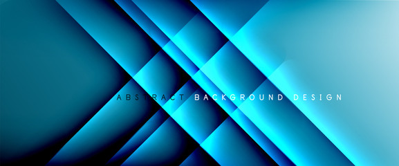 Türaufkleber Blau türkis Trendy simple fluid color gradient abstract background with dynamic straight shadow line effect. Vector Illustration For Wallpaper, Banner, Background, Card, Book Illustration, landing page