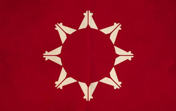Grunge Flag of Oglala Lakota