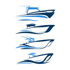 boat logo design icon vector