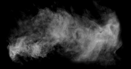 White Smoke with Black Background