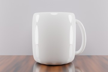 White coffee mug mockup texture image