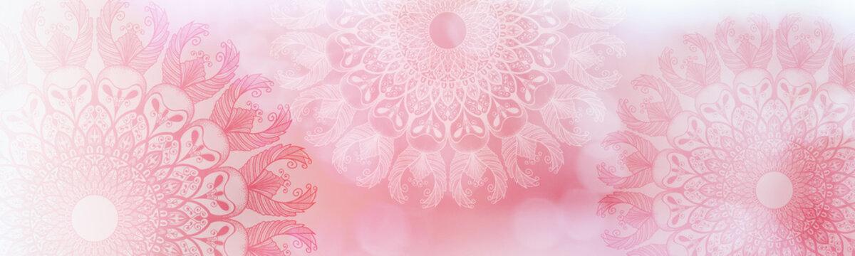 Soft colorful pattern with mandala element. Vintage decorative elements.  Islam, Arabic, Indian, Ottoman motifs.