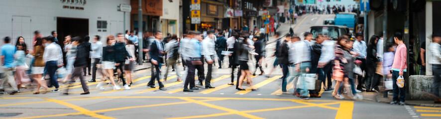 people walking - motion blur Fototapete
