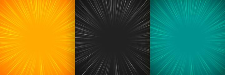 comic zoom lines empty background set design Fototapete