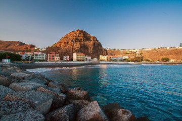 Photo sur Toile Iles Canaries Playa Santiago - La Gomera